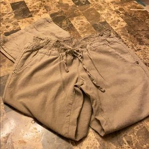 Taupe linen pant